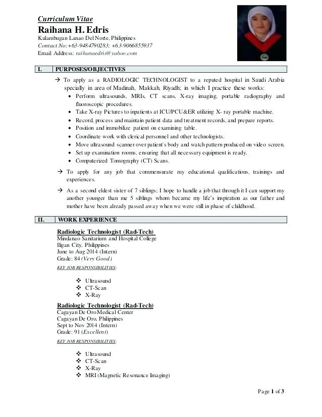 Radiologist Resume Radiographer Resume Samples Top Radiology Technologist  Resume Samples Radiologist Resume Template Free Word Documents .